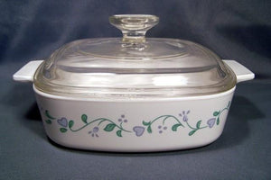 Corningware-1L Covered Casserole-Country Cottage-ES
