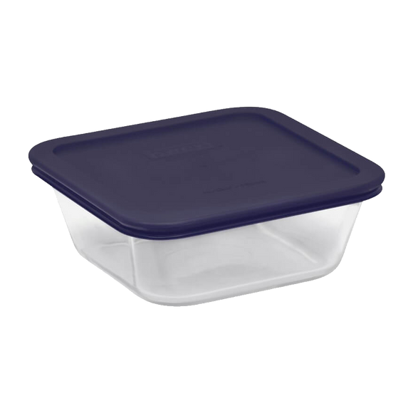 Pyrex-4cup/950ML Square Storage Blue