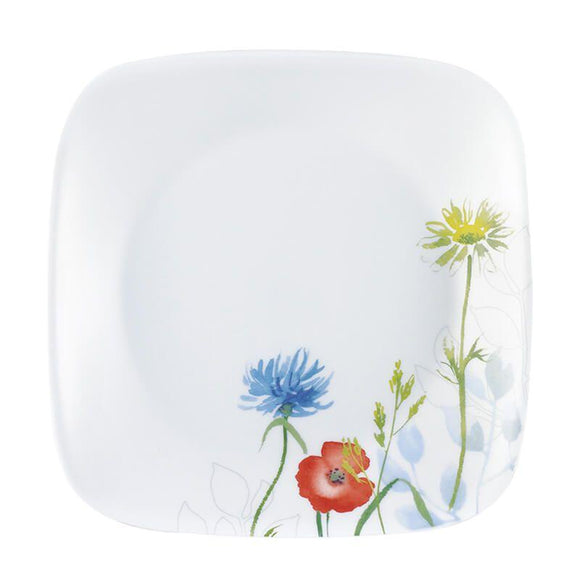 Corelle-3Pcs-Sq.Dinner Plate-Sq.Daisy Field