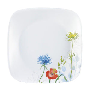 Corelle-3Pcs-Sq.Medium Plate-Sq.Daisy Field