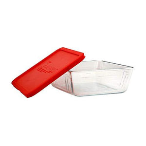 Pyrex- 11Cup/2.6L Rectangular Storage with plastic Red lid