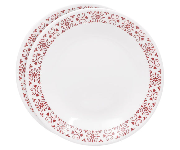 Corelle® 2Pcs Small Plate Red Trellies