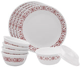 Corelle® 10Pcs Dinner Set Red Trellies