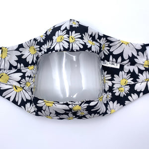Daisy Clear View Face Mask Front View