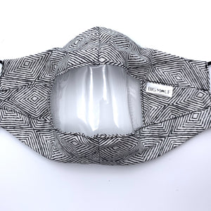Black Diamond Clear View Face Mask Front View