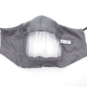 Solid Stone Clear View Face Mask Front View