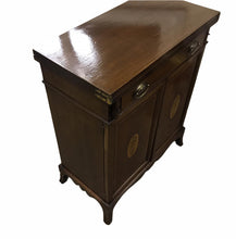 Load image into Gallery viewer, Edwardian Inlaid Mahogany Bachelor's Cabinet