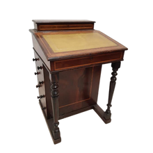 Load image into Gallery viewer, Edwardian Inlaid Davenport Desk