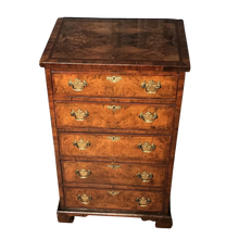 Load image into Gallery viewer, Victorian Burr Walnut chest of drawers