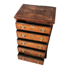 Load image into Gallery viewer, Burr Walnut Chest of Drawers c1890