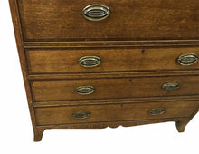Load image into Gallery viewer, Georgian Oak Secretaire Chest of Drawers