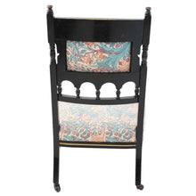 Load image into Gallery viewer, 19th Century Victorian Aesthetic Ebonised Nursing Parlour Chair