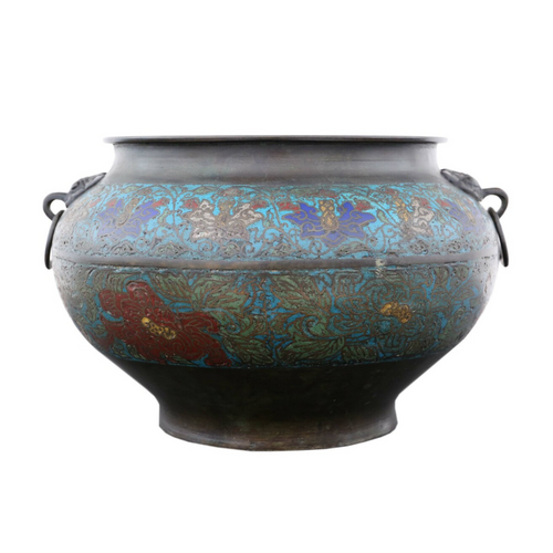 Late 19th Century Chinese Bronze Planter Bowl