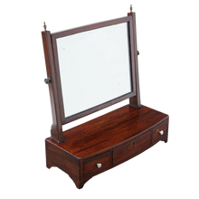 Load image into Gallery viewer, Georgian Mahogany Dressing Swing Mirror c1805