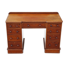 Load image into Gallery viewer, Victorian Mahogany Twin Pedestal Desk