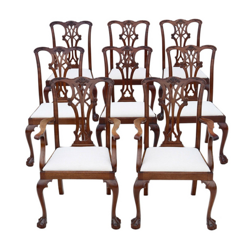 Georgian Revival  Mahogany Dining Chairs