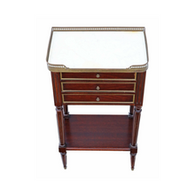 Load image into Gallery viewer, French Mahogany & Marble Bedside Table