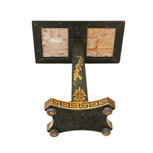 Load image into Gallery viewer, Georgian Ebonised & Marble Decorated Side Occasional Table