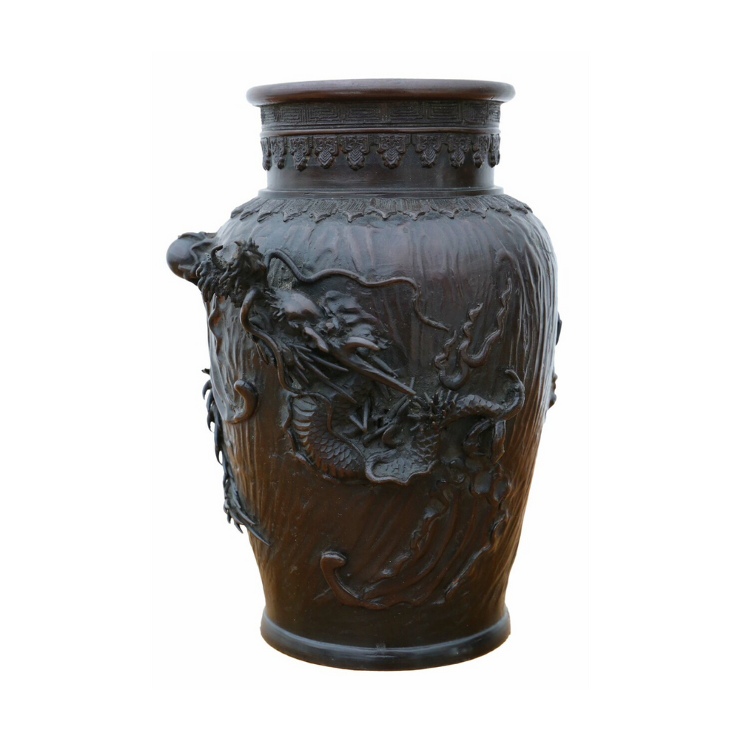 Japanese 19th Century Bronze Vase