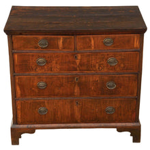 Load image into Gallery viewer, Georgian Crossbanded Walnut and Oak Chest of Drawers