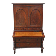 Load image into Gallery viewer, Georgian Mahogany Housekeeper's Cupboard Secretaire