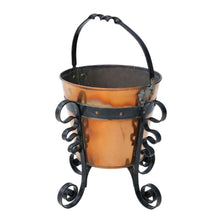Load image into Gallery viewer, Early 20th Century Iron and Brass Coal Scuttle Bucket