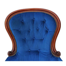 Load image into Gallery viewer, Beautiful Victorian Mahogany Armchair Slipper