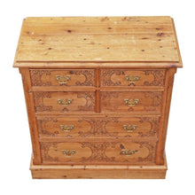 Load image into Gallery viewer, Pine Pokerwork Chest of Drawers