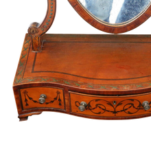 Load image into Gallery viewer, Georgian Satinwood Dressing Swing Mirror c1820