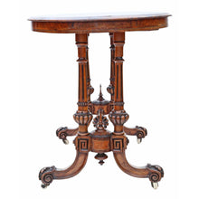 Load image into Gallery viewer, Victorian Inlaid Burr Walnut Centre Table c1880