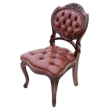 Load image into Gallery viewer, Stunning Pair of Victorian Mahogany Hall Side Chairs c1870