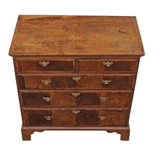 Load image into Gallery viewer, Georgian 18th Century Oyster Walnut and Fruitwood Chest of Drawers
