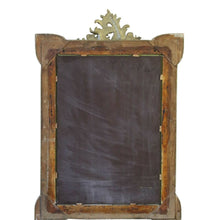 Load image into Gallery viewer, 19th Century French Gilt Wall Overmantel Crest Mirror