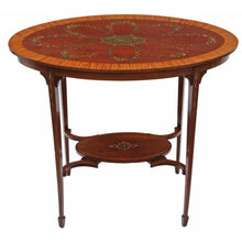 Load image into Gallery viewer, Decorated Satinwood and Mahogany Table