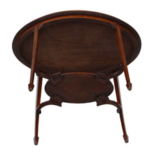 Load image into Gallery viewer, 19th Century Decorated Satinwood and Mahogany Table c1895