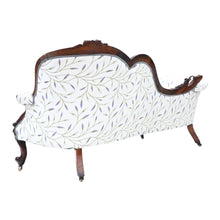 Load image into Gallery viewer, Victorian Carved Walnut Chaise Longue or Sofa