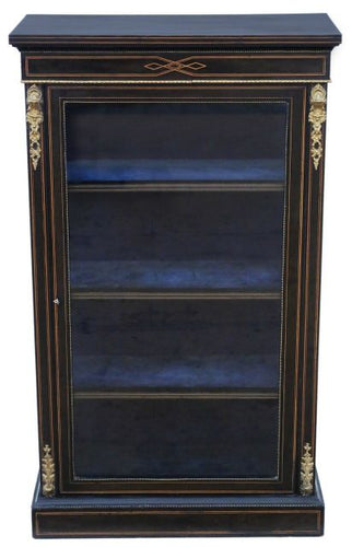 Victorian Aesthetic inlaid and Ebonised Display Cabinet