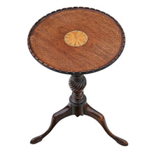 Load image into Gallery viewer, Georgian Revival Inlaid Mahogany Wine Table c1910
