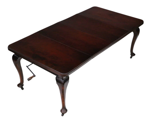Large Mahogany Windout Extending Dining Table