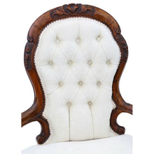 Load image into Gallery viewer, Victorian Walnut Chaise Longue or Conversation Sofa c1860