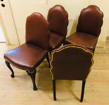 Load image into Gallery viewer, Set of Four Cabriole Leg Chairs 1920