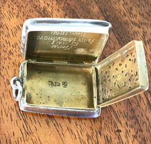 Load image into Gallery viewer, Silver Vinaigrette by John Bettridge hallmarked London 1848