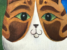 "Load image into Gallery viewer, 20th Century Impressionism Oil Painting Portrait ""Cornish Ginger Striped Cats"""