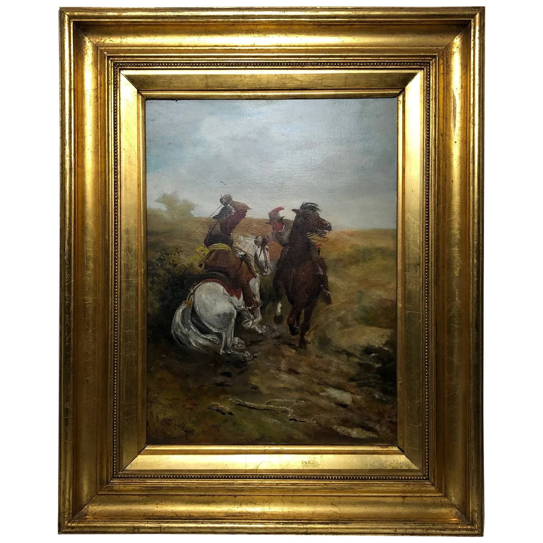 Victorian Oil Painting Military