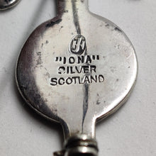 Load image into Gallery viewer, John Hart IONA Silver Galleon Sword Brooch / Kilt Pin