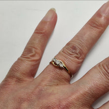 Load image into Gallery viewer, Diamond Trilogy Illusion Gold Ring