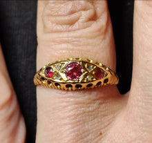 Load image into Gallery viewer, Edwardian Ruby & Diamond 18ct Gold Ring, Hallmarked 1907