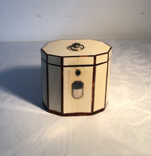 Load image into Gallery viewer, Late 18th Century Ivory Tea Caddy Inlaid with Tortoiseshell and Mother of Pearl