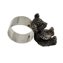 Load image into Gallery viewer, Vintage Silver Plated Teddy Bear Napkin Holder