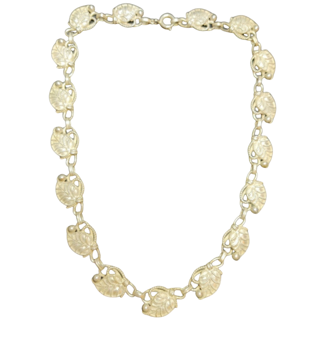 Intricate Continental Silver Necklace